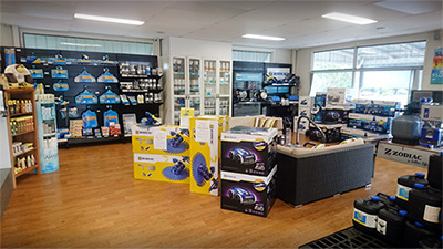 JC Pool Services Fairfield Pool Store Showroom