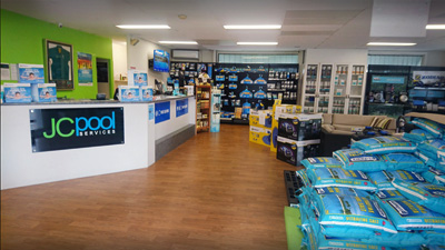 JC Pool Services Fairfield Pool Store Showroom Close
